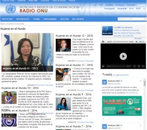 mujeres en la radio
